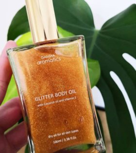 glitter body oil